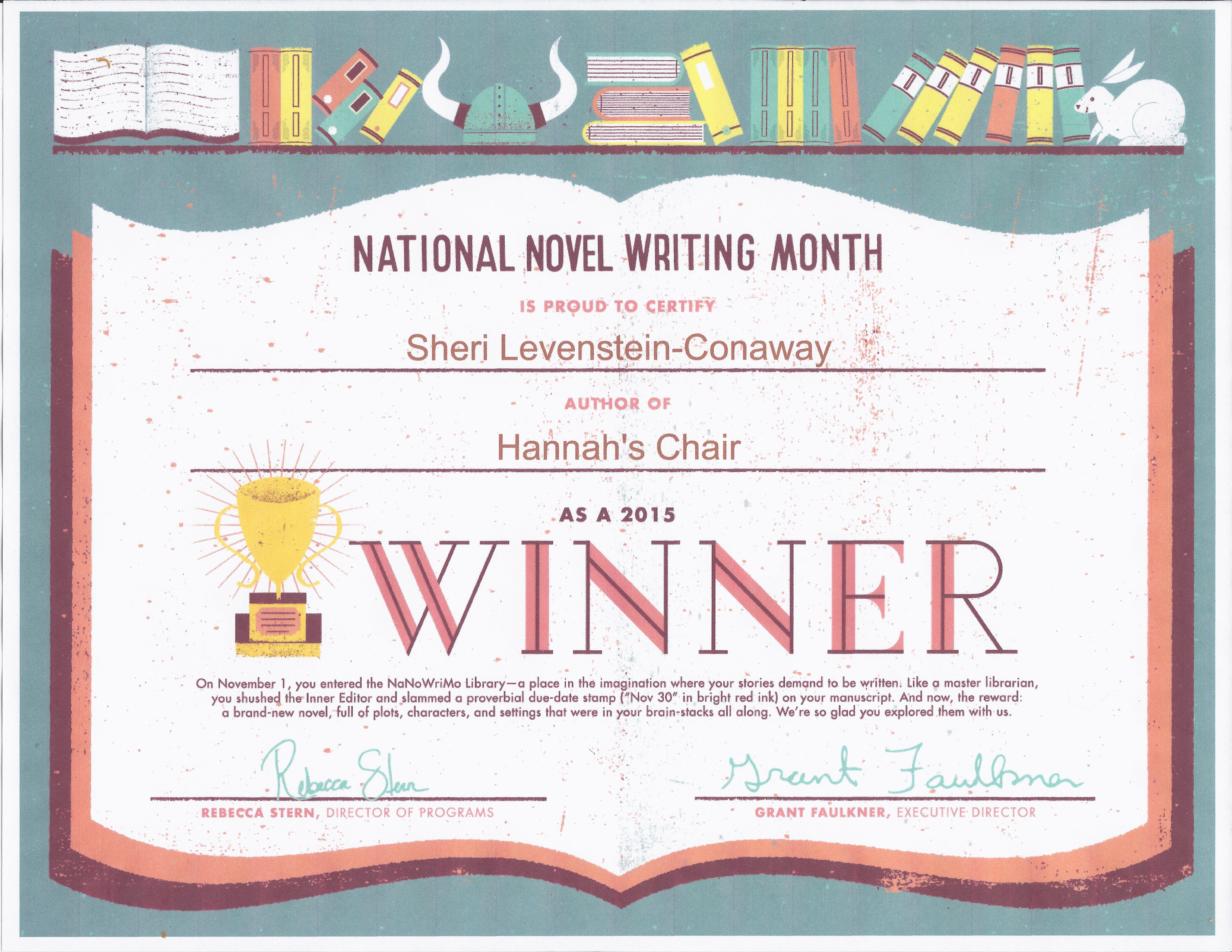 2015 Nano Winners Certificate